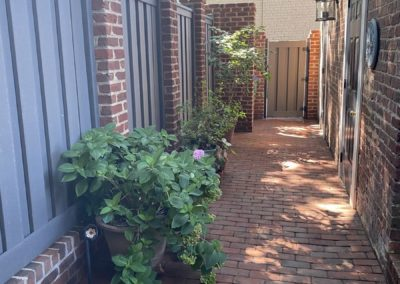 New Composite Fence with Brick Columns